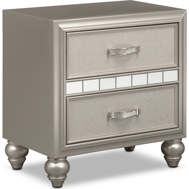 Kids Furniture - Serena Nightstand - Platinum