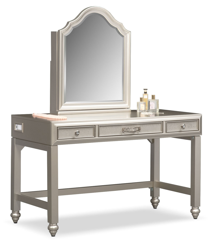 Bedroom Furniture - Serena Vanity and Mirror