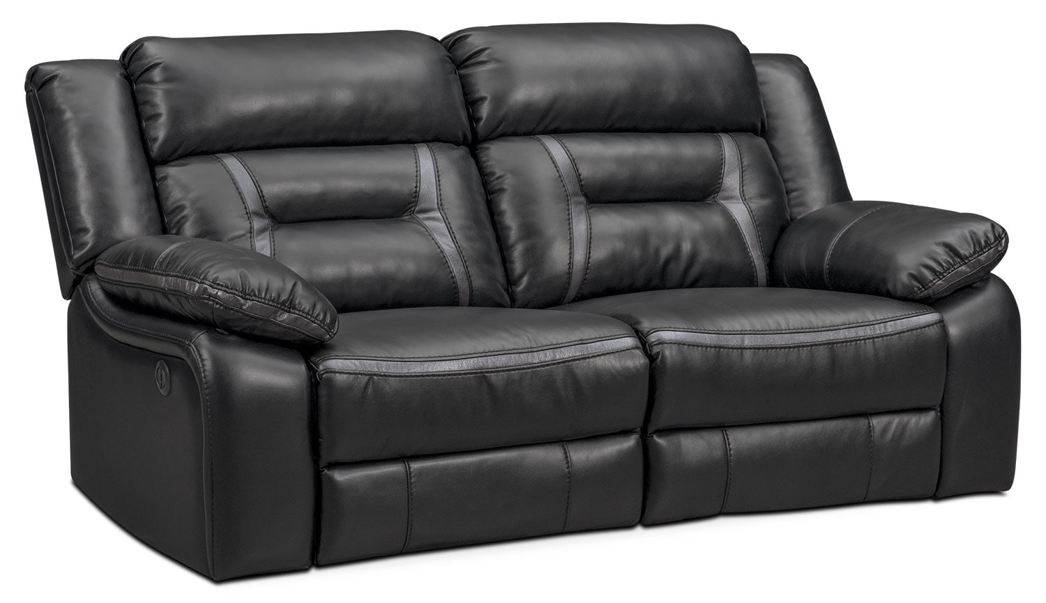 Remi 2-Piece Power Reclining Sofa - Black