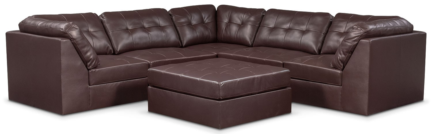 Living Room Furniture - Cayenne 6-Piece Sectional - Godiva