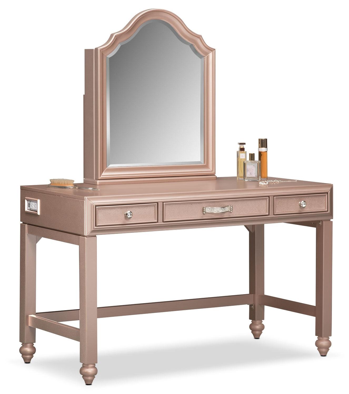 Serena Vanity And Mirror Rose Quartz American