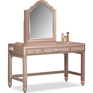 Serena Vanity and Mirror - Rose Quartz