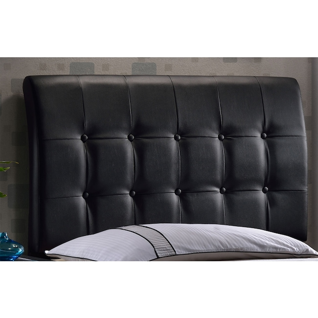 Bedroom Furniture - Lusso Queen Headboard - Black