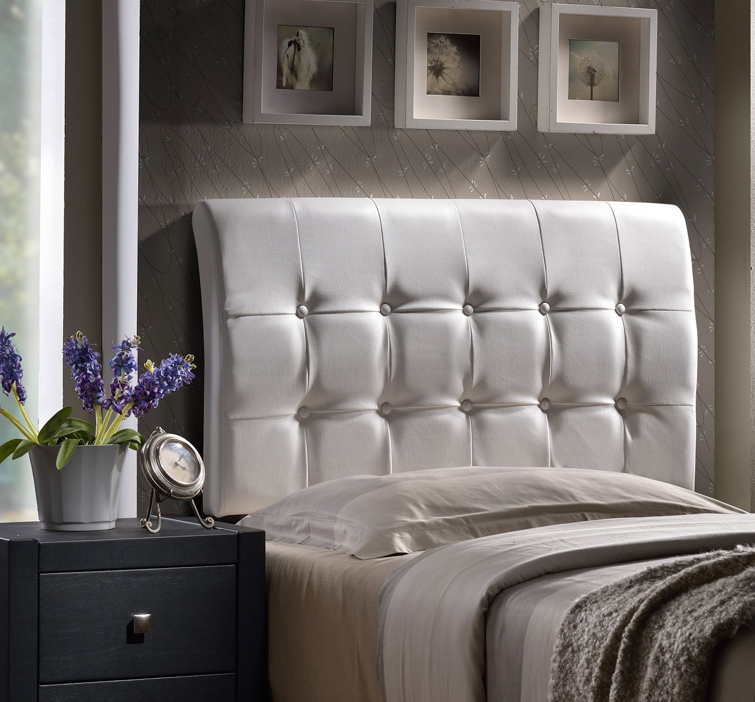 Bedroom Furniture - Lusso Queen Headboard - White