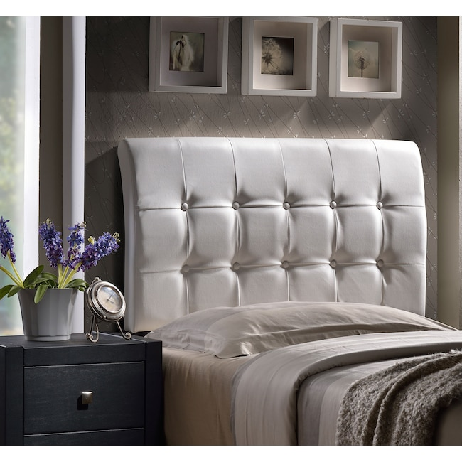 Bedroom Furniture - Lusso Full Headboard - White