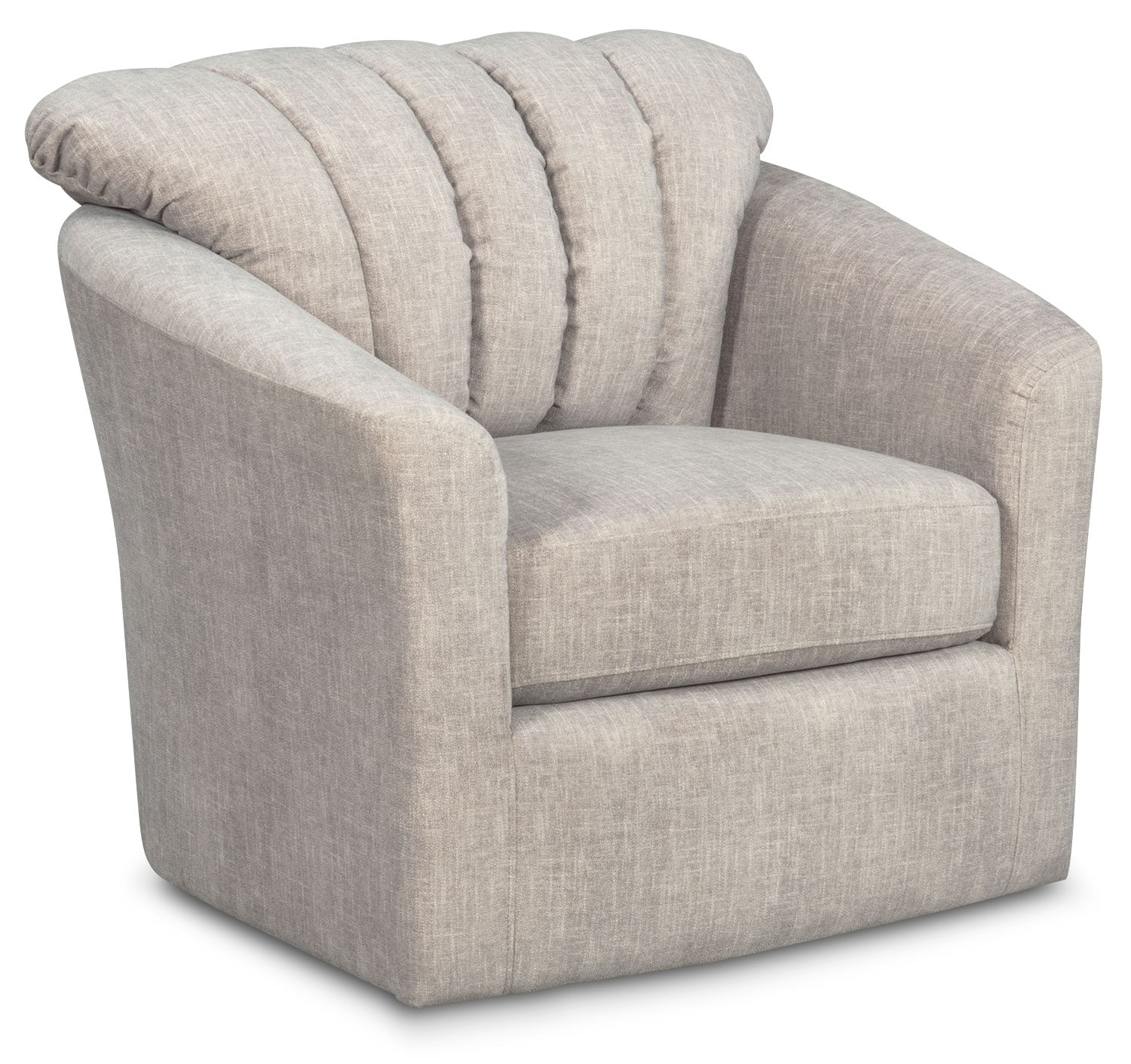 Living Room Furniture - Parker Swivel Chair - Gray