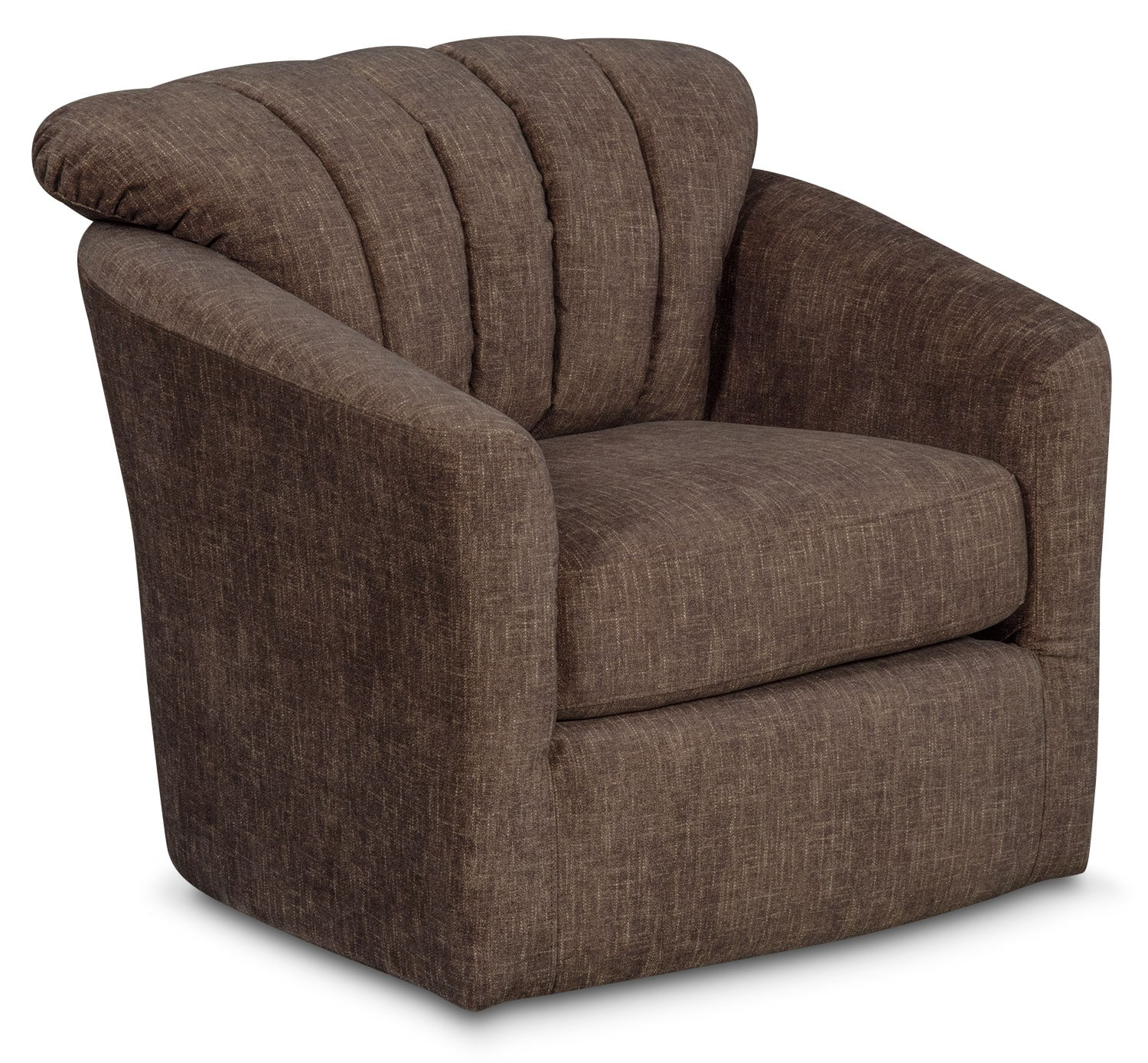 Living Room Furniture - Parker Swivel Chair - Brown