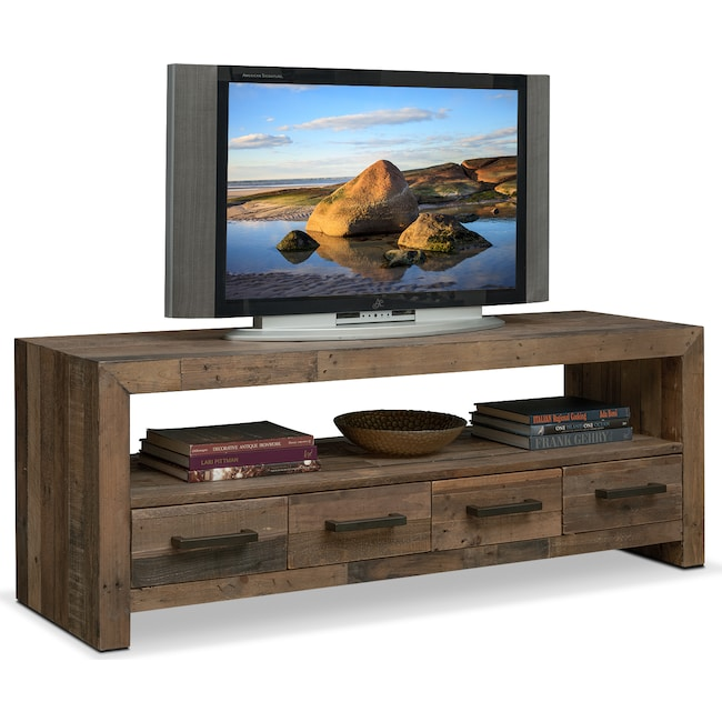 "Accent and Occasional Furniture - Rancho 63"" TV Stand - Pine"