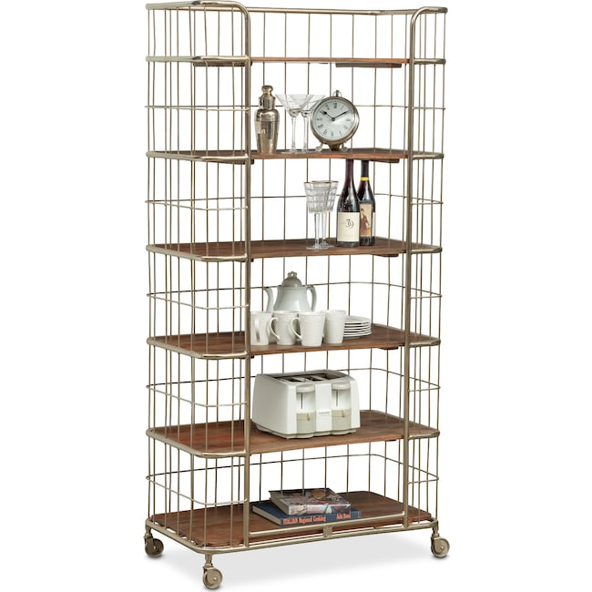 Accent and Occasional Furniture - Davis Etagere - Nickel