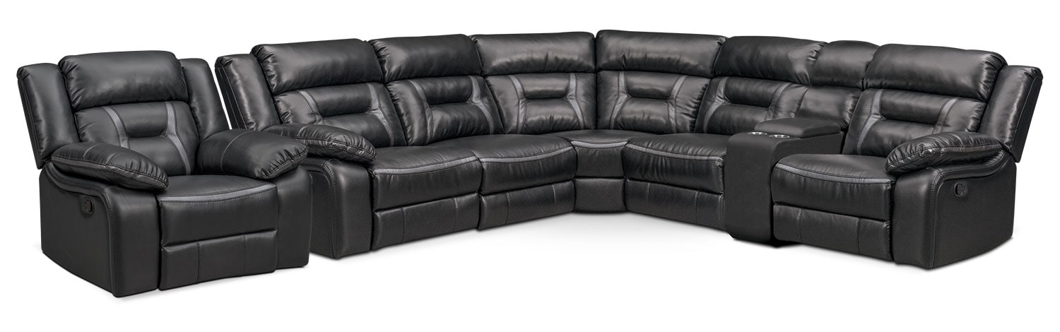 The Remi Manual Reclining Collection - Black