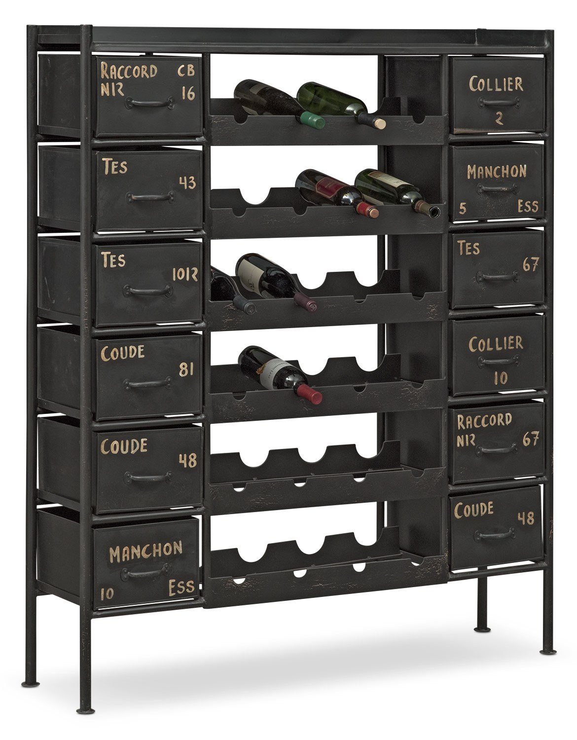 Accent and Occasional Furniture - Wayland Wine Chest - Black