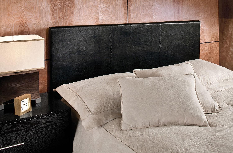 Bedroom Furniture - Spring Full/Queen Headboard - Black