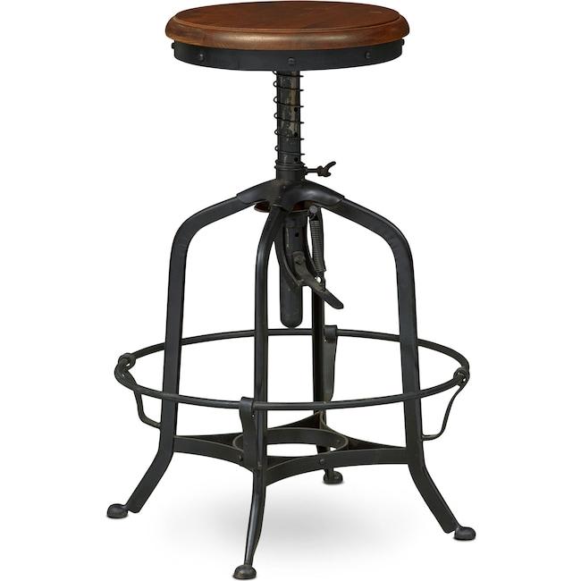 Dining Room Furniture - Barlow Adjustable Stool - Black