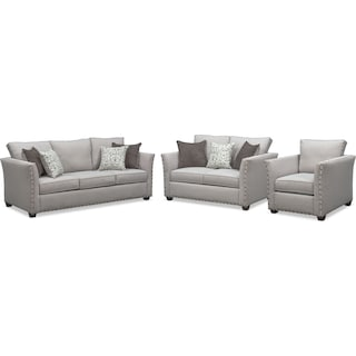 Mckenna Sofa, Loveseat, and Chair Set