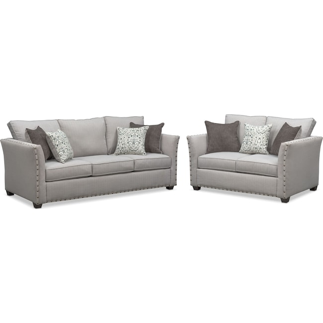 Living Room Furniture - Mckenna Sofa and Loveseat Set