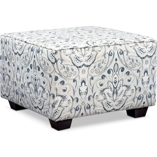 Mckenna Accent Ottoman - Multi Pewter