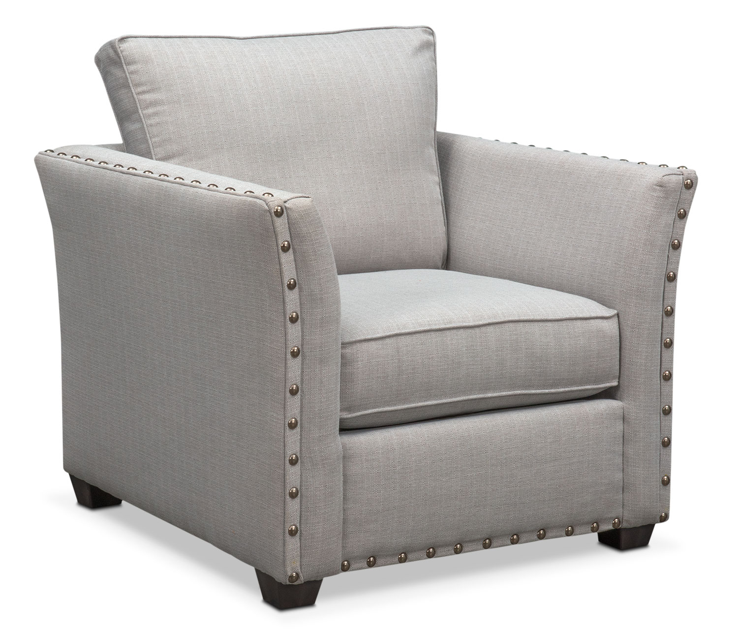 Mckenna Queen Memory Foam Sleeper Sofa And Chair Set   Pewter