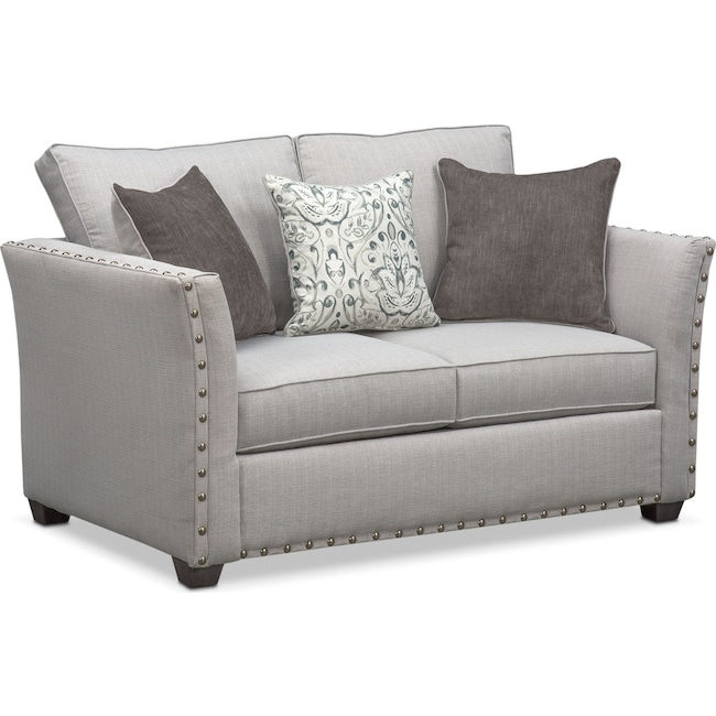 Living Room Furniture - Mckenna Loveseat - Pewter
