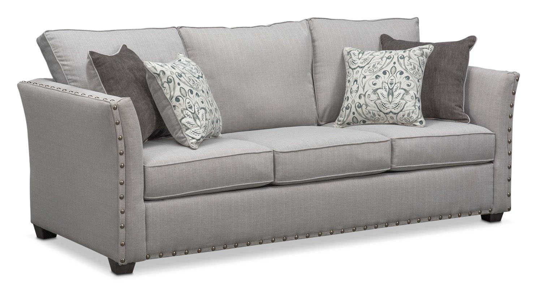 Living Room Furniture - Mckenna Sofa - Pewter