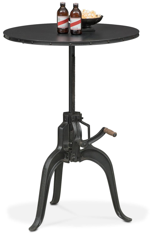 Dining Room Furniture - Derrik Adjustable Crank Table - Black