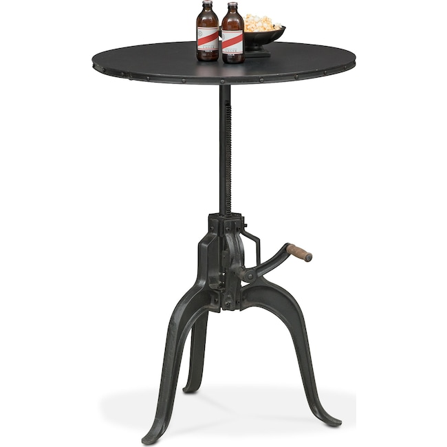 Dining Room Furniture - Derrik Adjustable Crank Table - Black