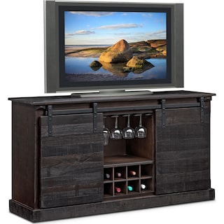 Ashcroft Media Credenza with Wine Storage - Charcoal