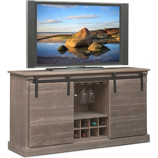 Ashcroft Media Credenza with Wine Storage - Gray