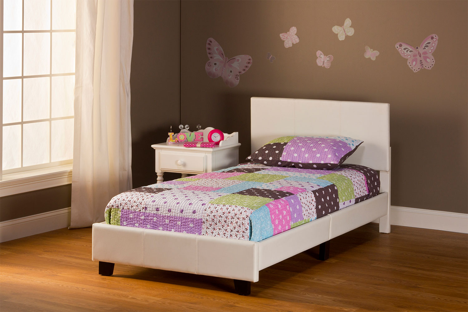 Spring Twin Bed in a Box - White