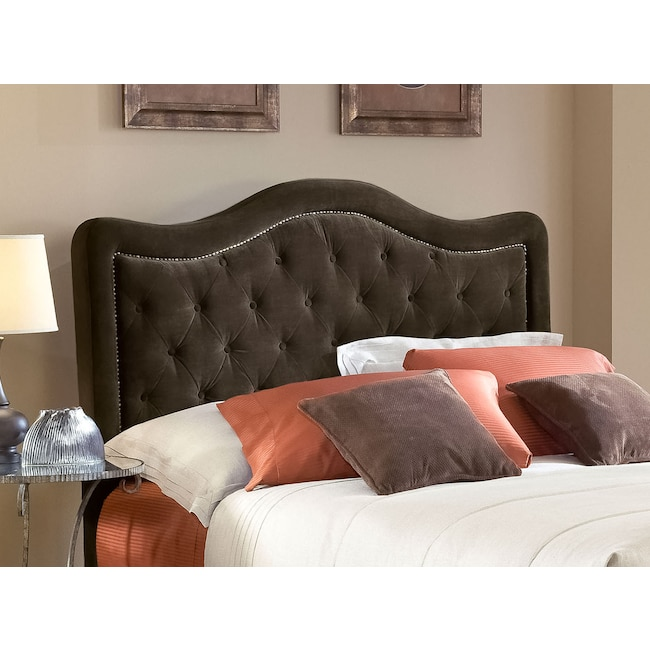 Bedroom Furniture - Tris Queen Headboard - Chocolate