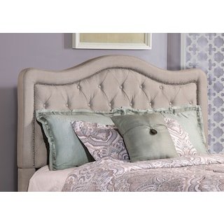 Tris Queen Upholstered Headboard - Gray