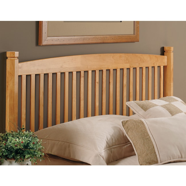 Tree Full Queen Headboard Oak American Signature Furniture