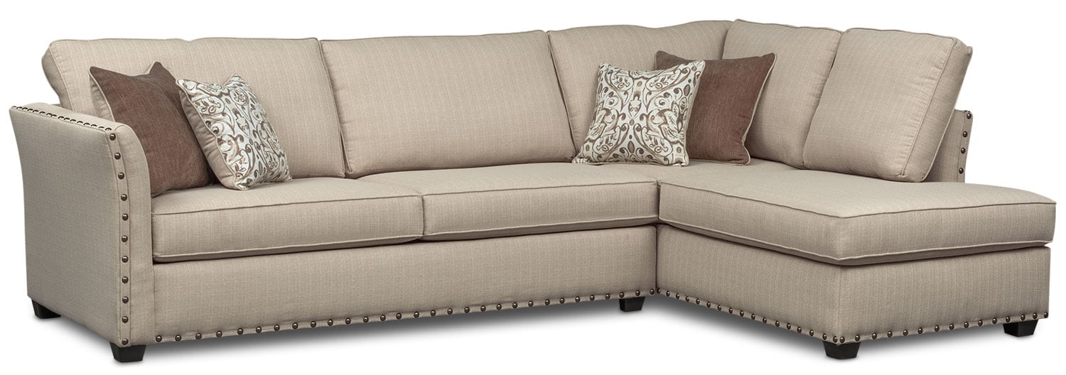 Living Room Furniture - Mckenna 2-Piece Sectional with Chaise