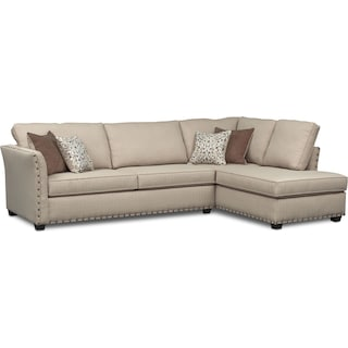 Mckenna 2-Piece Queen Memory Foam Sleeper Sectional - Sand