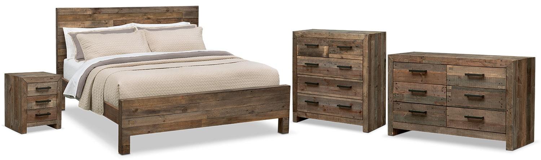 Bedroom Sets Pine rancho 6-piece queen bedroom set - pine | american signature furniture