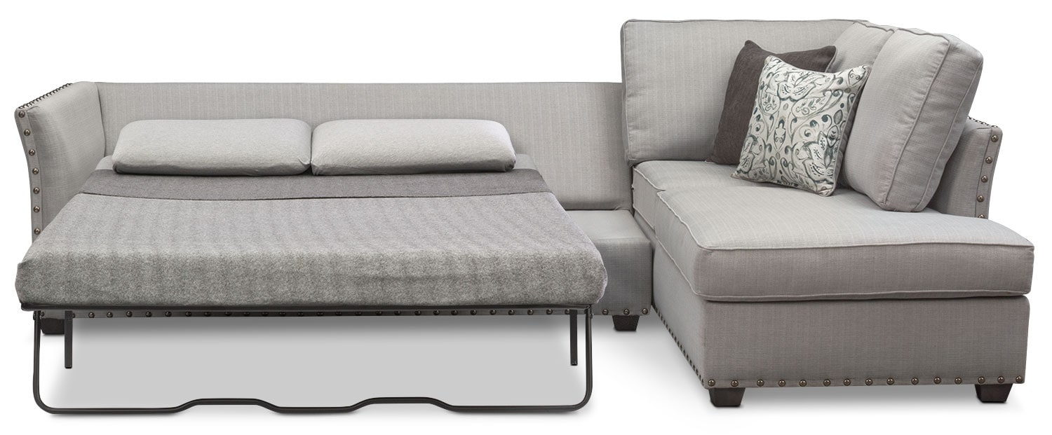 left chaise by sleeper sectional piece w furniture sofas sofa products benchcraft
