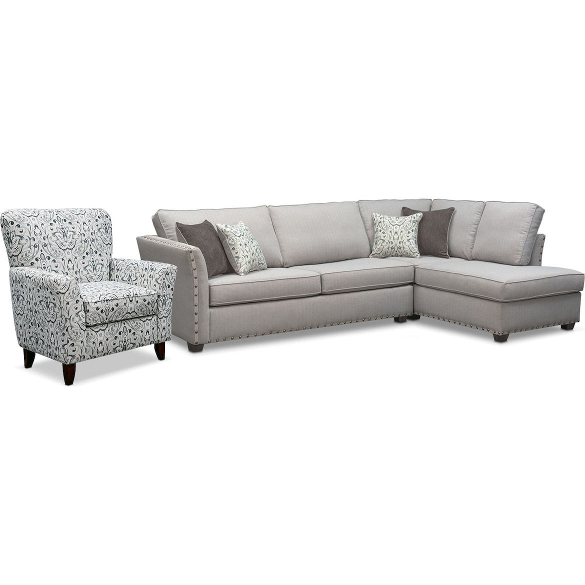 Mckenna 2 Piece Sleeper Sectional And Accent Chair Set