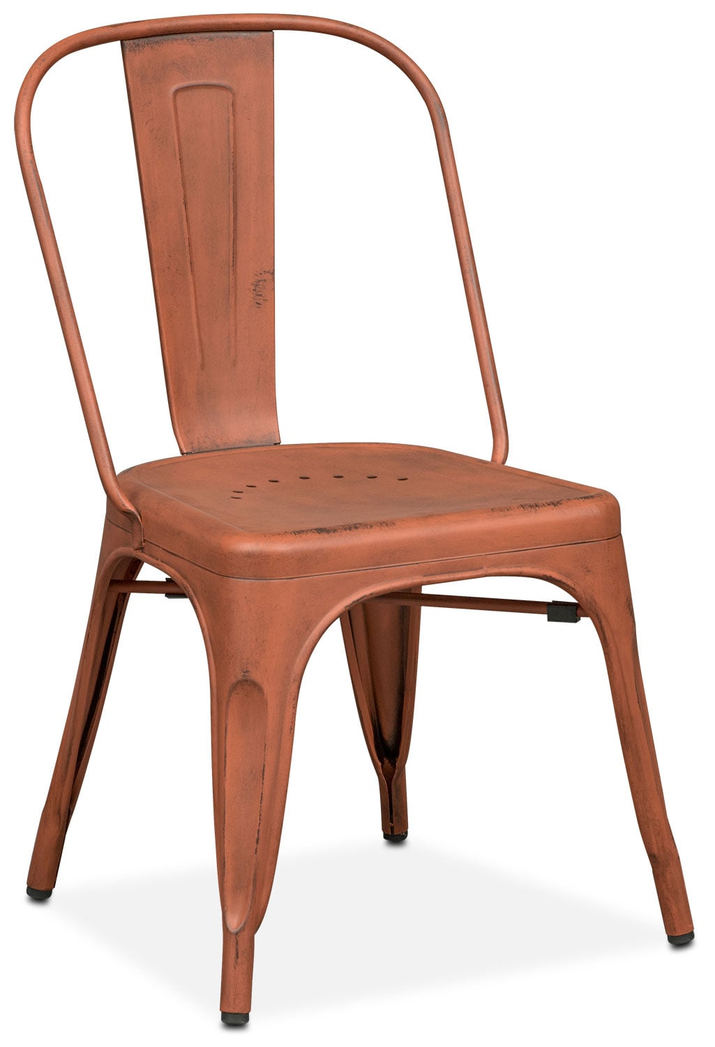 Dining Room Furniture - Olin Splat-Back Side Chair - Orange