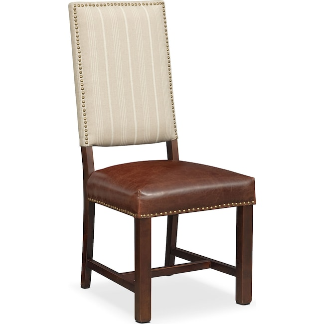 Living Room Furniture - Tannery Side Chair - Brown