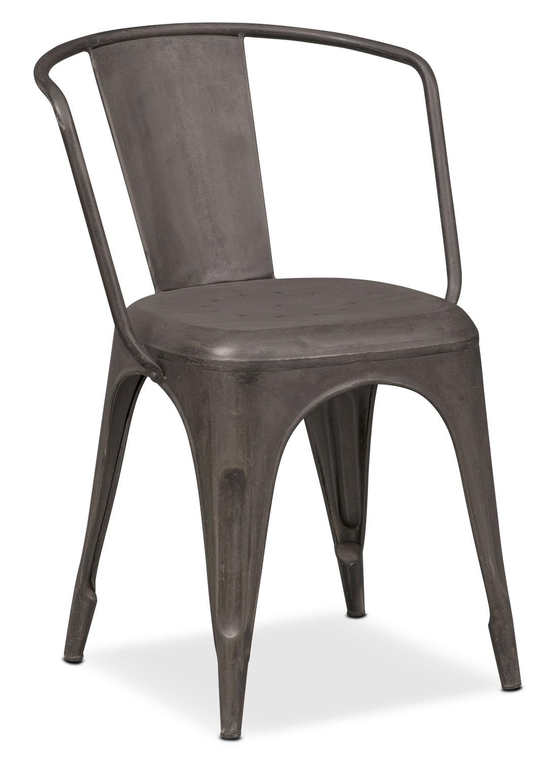 Holden Splat-Back Arm Chair - Black