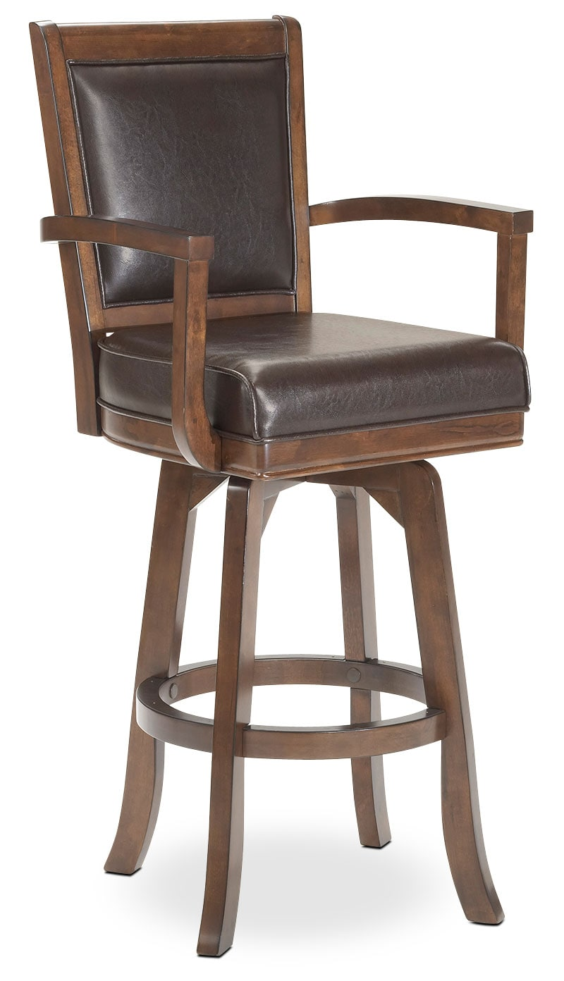 Dining Room Furniture - Ambassador Swivel Counter-Height Stool - Cherry