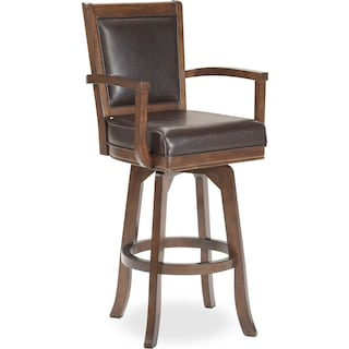 Ambassador Swivel Barstool - Cherry
