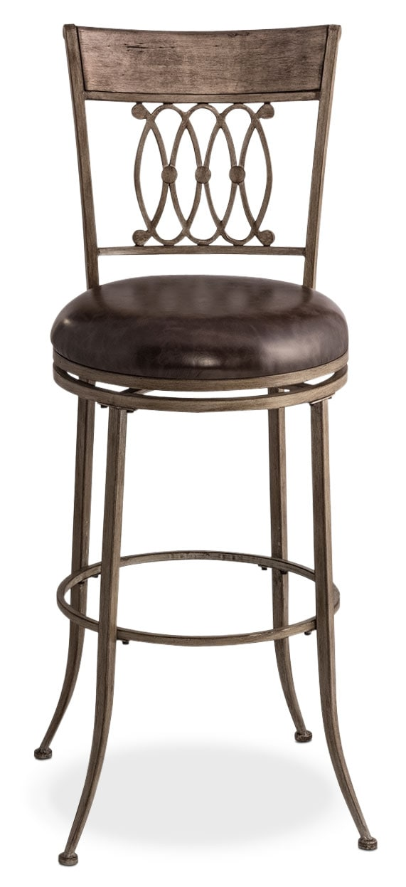 Accent and Occasional Furniture - Abilene Swivel Barstool - Gray