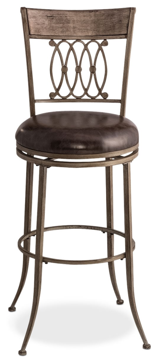 Dining Room Furniture - Abilene Swivel Counter-Height Stool - Gray