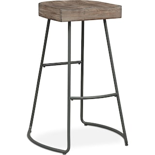 Foundry Barstool - Distressed Wood