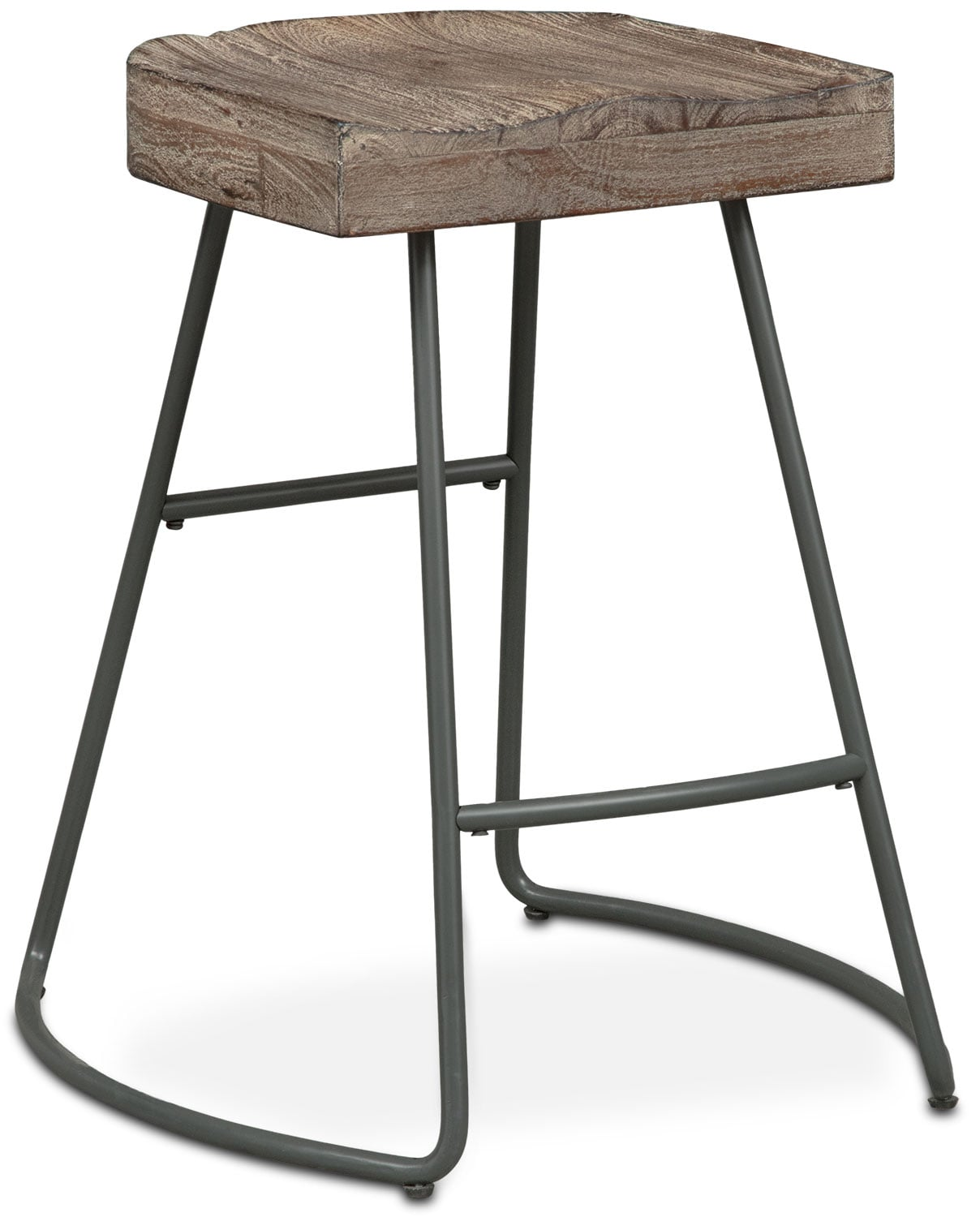 Counter Height Wood Stools : Foundry Counter-Height Stool - Distressed Wood American Signature ...