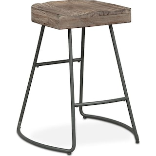 Foundry Counter-Height Stool - Distressed Wood