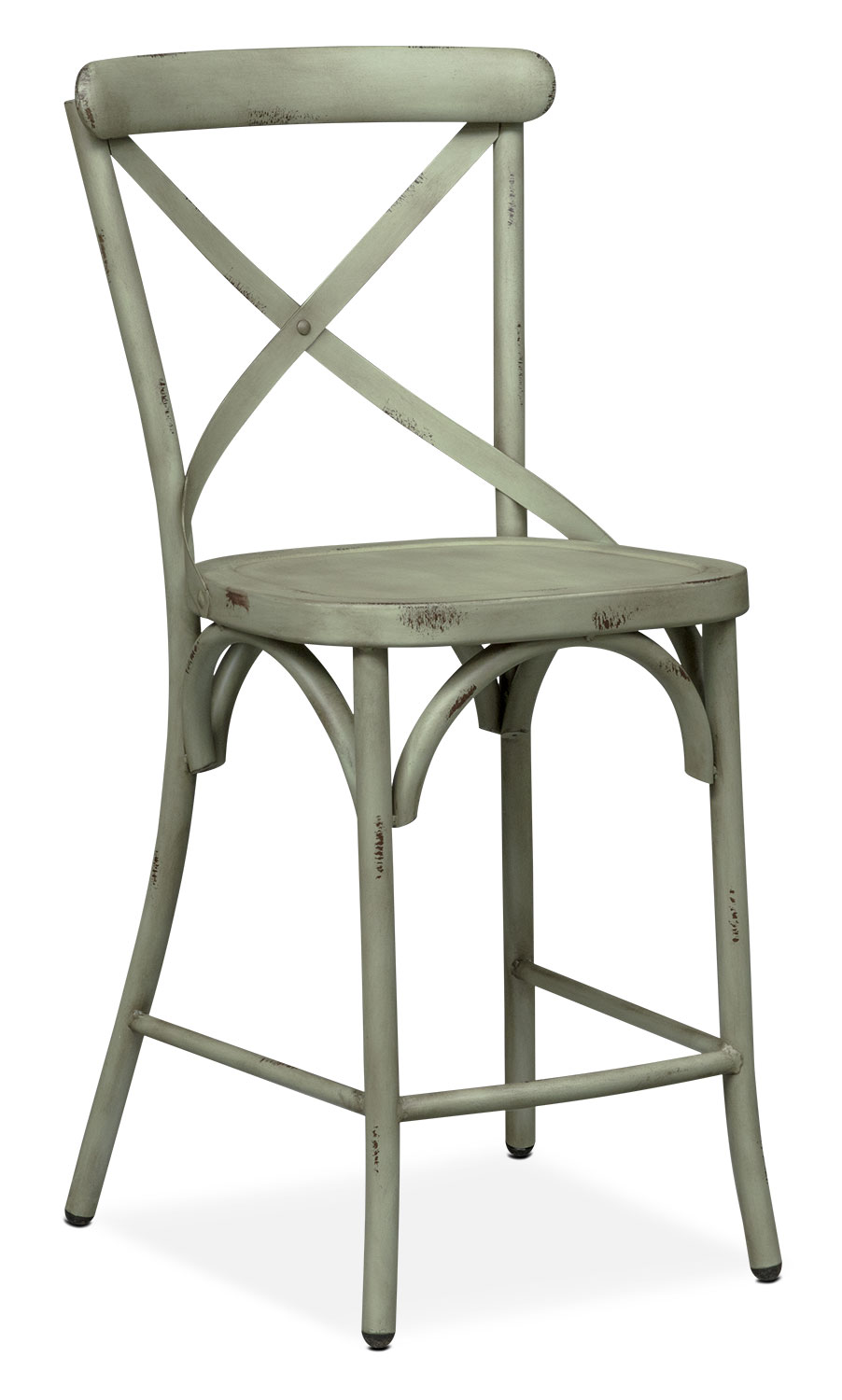 Counter Height X Back Chairs : ... Back Counter-Height Stool - Green American Signature Furniture