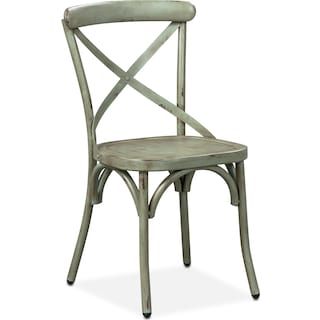 Saxon X-Back Side Chair - Green
