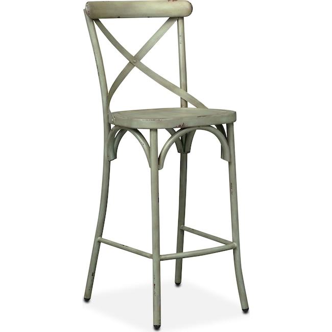 Dining Room Furniture - Saxon X-Back Barstool - Green
