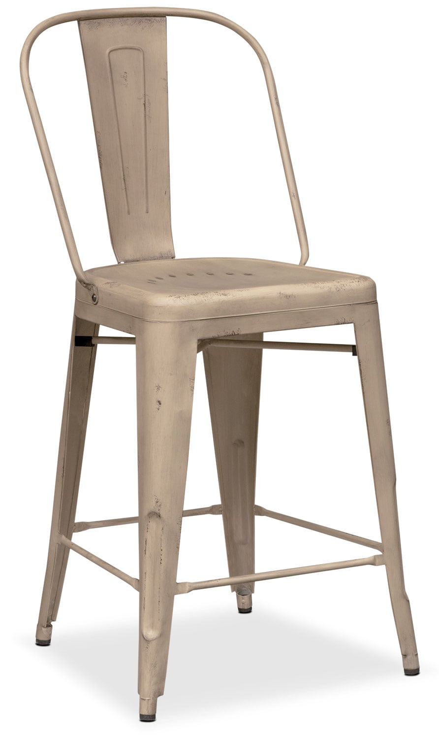 Dining Room Furniture - Olin Splat-Back Counter-Height Stool - Ivory